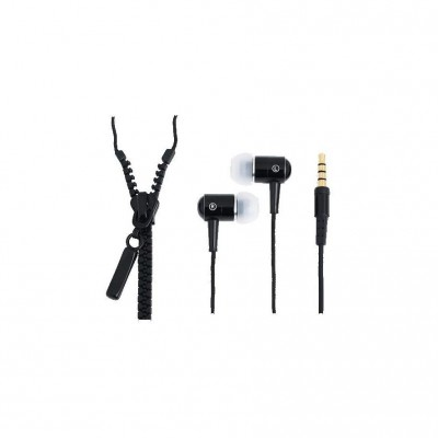 "LogiLink ""Zipper"" Stereo InEar Headphone Black"