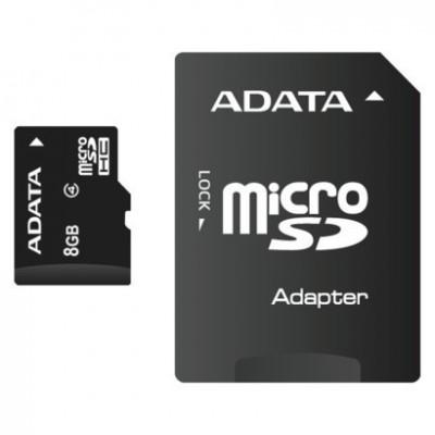 Adata microSDHC 8GB Class 4 with Adapter