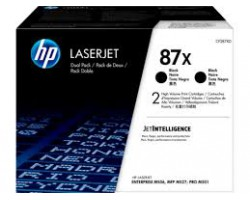 HP 87X Black Toner 2-pack