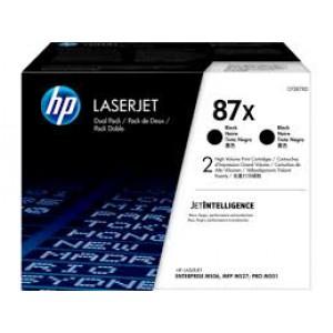 HP 87X Black Toner 2-pack