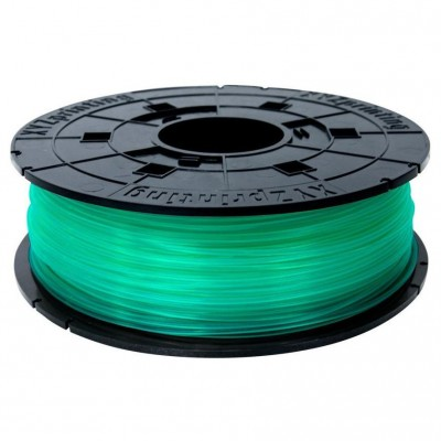 Filamentcassette Clear Green PLA for 3D printer da Vinci