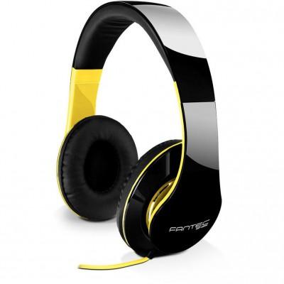 Fantec Headphones SHP-250AJ-TQ Black/Yellow