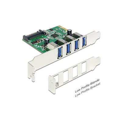 DeLock PCIe Card 4x USB 3.0 ext + LowProfile