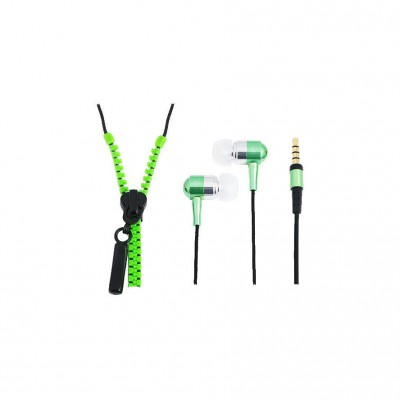 "LogiLink ""Zipper"" Stereo InEar Headphone Green"