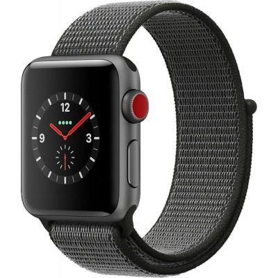 Apple Watch Series 3 Cellular Space Grey Aluminium 38mm Black Sport Loop
