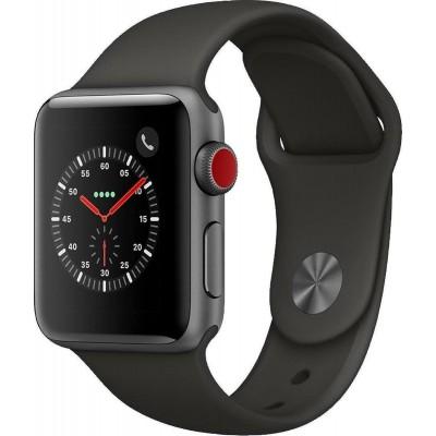 Apple Watch Series 3 Cellular Space Grey Aluminium 38mm Black Sport Band