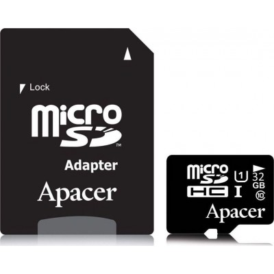 Apacer microSDHC 32GB U1 with Adapter