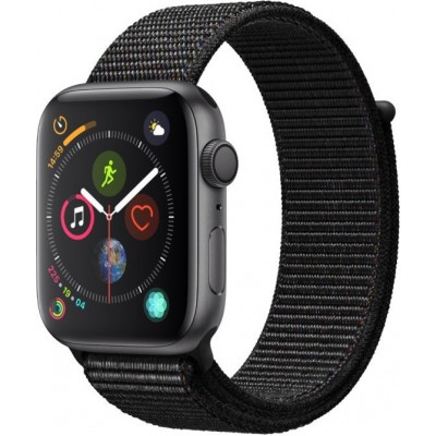 Apple Watch Series 4 GPS Space Grey Aluminium (44mm) Case, Black Sport Loop