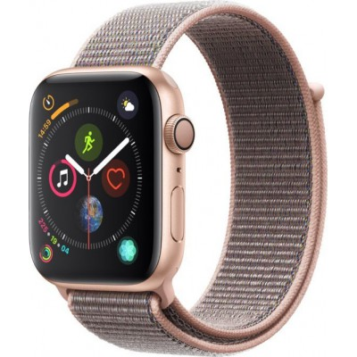Apple Watch Series 4 GPS Gold Aluminium (44mm) Case, Pink Sand Sport Loop