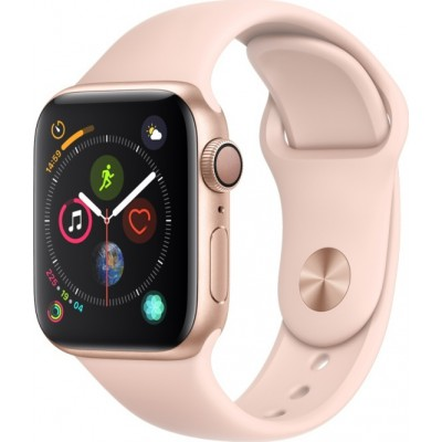 Apple Watch Series 4 GPS Gold Aluminium (40mm) Case, Pink Sand Sport Band