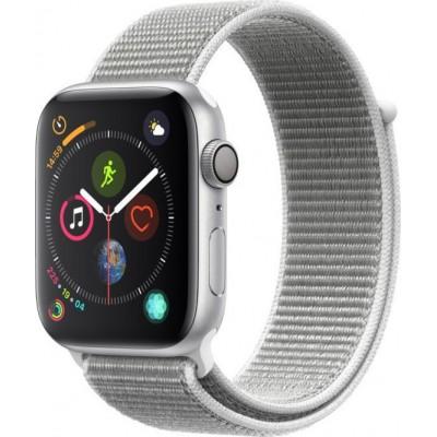 Apple Watch Series 4 Cellular Silver Aluminium (44mm) Case, Seashell Sport Loop