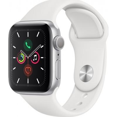 Apple Watch Series 5 Aluminium 40mm Silver White Sport Band