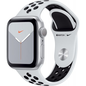 Apple Watch Series 5 Nike Silver Aluminium Case 40mm, Pure Platinum/Black Nike Sport Band