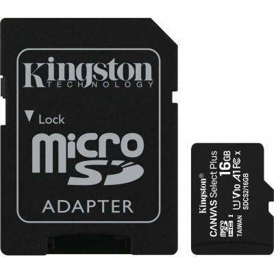 Kingston Canvas Select Plus SDHC 16GB Class 10 With Adapter