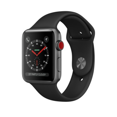 Apple Watch Series 3 Cellular Space Grey Aluminium 42mm Black Sport Band