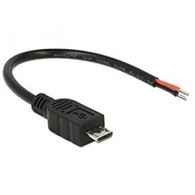 DeLock USB cable Delock Micro-B -> 2 open wires 0.10m