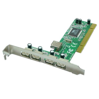 Lindy PCI card USB 2.0 4 + 1 Port
