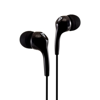 V7 3.5MM STEREO EARBUDS (Black)