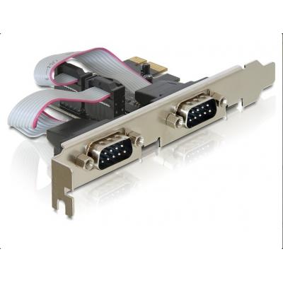 DeLock PCI-E Card 2x Serial + LowProfile