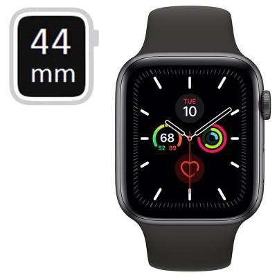 Apple Watch Series 5 GPS 44mm Space Grey Aluminium Case, Black Sport Band