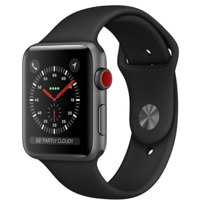 Apple Watch Series 3 LTE 38mm Space Grey Aluminum Case With Black Sport Band