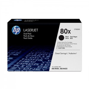 HP 80x Black Toner 2-pack (CF280XD)