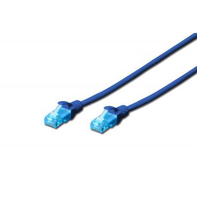 Digitus U/UTP Cat.5e Cable 0.5m BLAU
