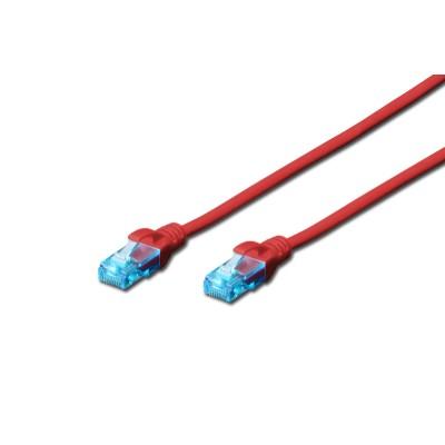Digitus U/UTP Cat.5e Cable 0.5m RED