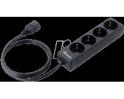Equip 333281 4-socket Power Strip Black