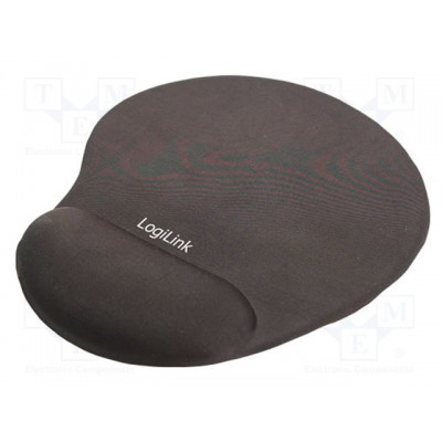 LogiLink Mousepad with GEL Wrist Rest Support Black