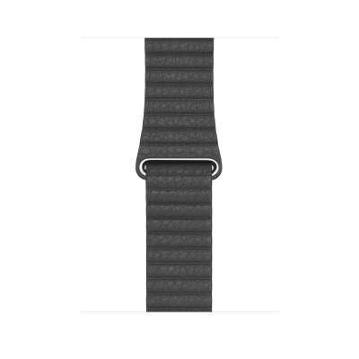 Apple 44mm Black Leather Loop - Medium