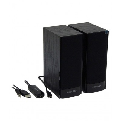 Microlab B56 2.0 active speaker Black, Wood