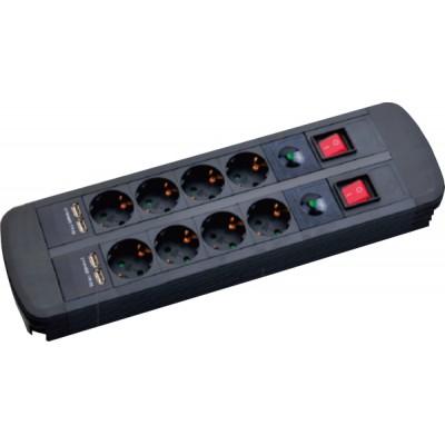 Mcab Power Socket 2x4x16A / 4xUSB