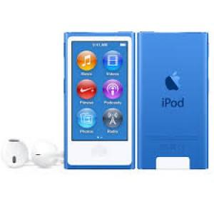 Apple iPod Nano 16GB 7th Generation 2015 Blue