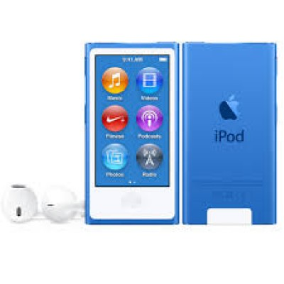 Apple iPod Nano 16GB 7th Generation 2015 Blue