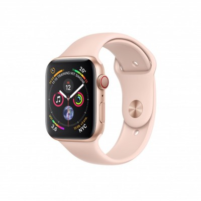 Apple Watch Series 4 Cellular Gold Aluminium (40mm) with Pink Sand Sport Band