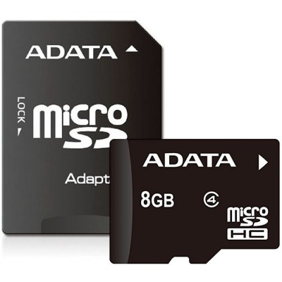 Adata microSDHC 8GB Class 4 with Adapter
