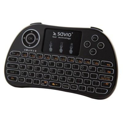 Savio KW-01 Ασύρματο Πληκτρολόγιο με Touchpad Αγγλικό US