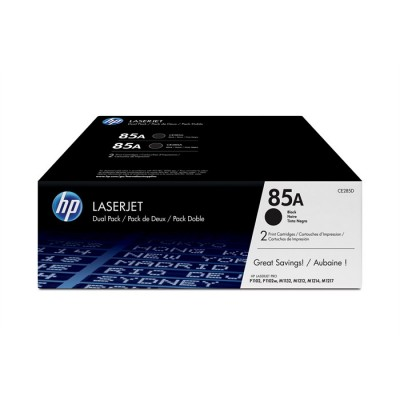 HP 85A Black Toner 2-pack (CE285AD)