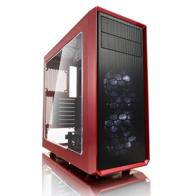 Fractal Design Focus G with Window Side Panel (Mystic Red)