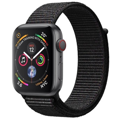 Apple Watch Series 4 Cellular Space Grey Aluminium (40mm) Case with Black Sport Loop