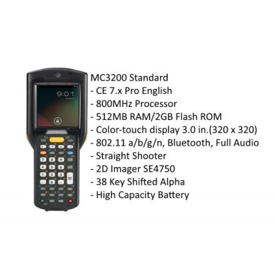 Motorola MC3200 Straight Shooter - MC32N0-SI3HCLE0A (OMAP4/512MB/2GB Flash/W7.0)