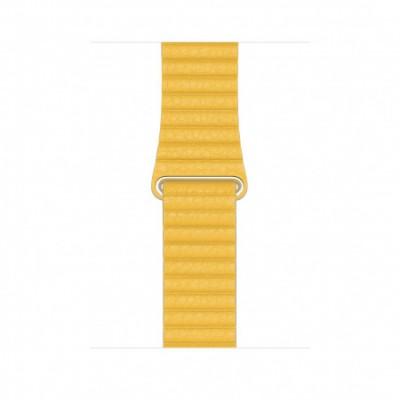 Apple 44mm Meyer Lemon Leather Loop - Large