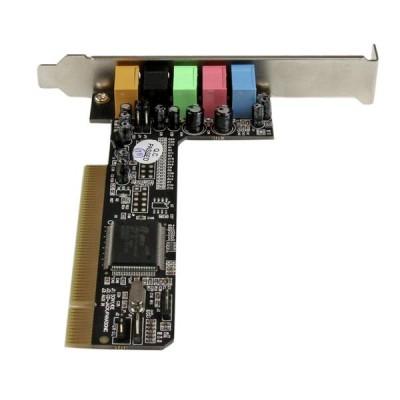 StarTech PCISOUND5CH2 5.1 Channels 16-bit 48KHz PCI