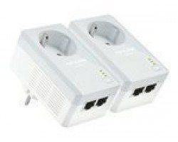 TP-LINK TL-PA4020PKIT AV500 2-Port Powerline Adapter with AC Pass Through Starter Kit v2