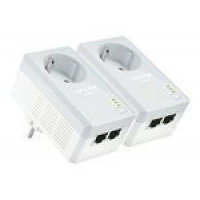 TP-LINK TL-PA4020PKIT AV500 2-Port Powerline Adapter with AC Pass Through Starter Kit v2