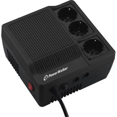 Powerwalker AVR 1000 Compact Σταθεροποιητής Τάσης 1000VA με 3 Πρίζες Ρεύματος