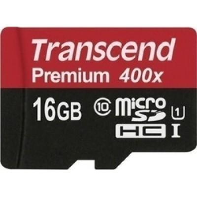 Transcend Premium 400x microSDHC 16GB U1