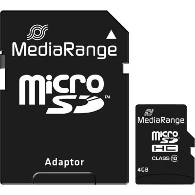 MediaRange microSDHC 4GB Class 10 with Adapter