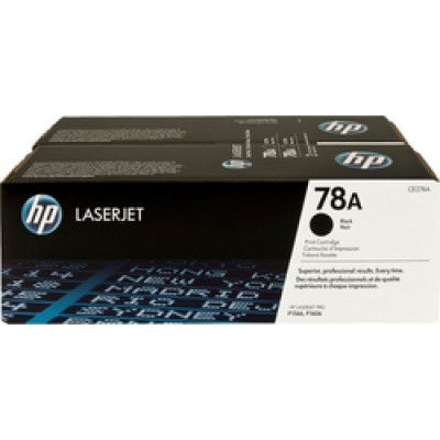 HP 78A Black Toner 2-pack (CE278AD)